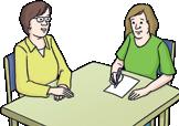 2 Frauen am Tisch