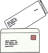 Brief und Umschlag