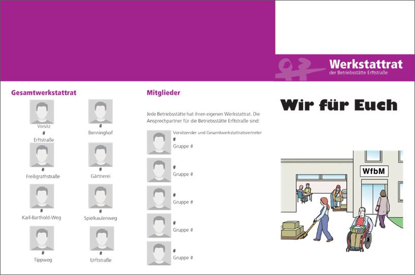 Faltblatt Werkstattrat 1