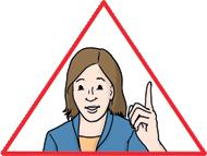 Frau im Dreieck