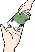 Geld in der Hand