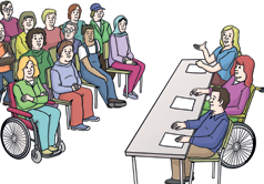 Gruppe mit Dozenten