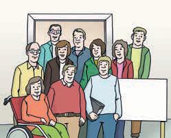 Gruppe mit Whiteboard