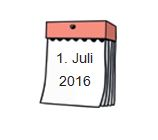 Kalender 1 Juli 2016