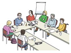 Menschen am Konferenztisch