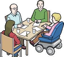 Menschen mit Rollstuhl