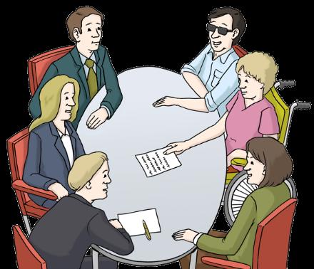 Menschen am Tisch